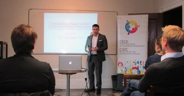Arthur Spirling gives presentation