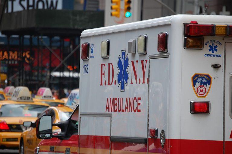 Side of F.D.N.Y firetruck
