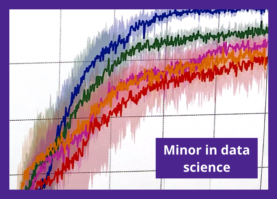 "infographic of chart with ""minor in data science"" text"
