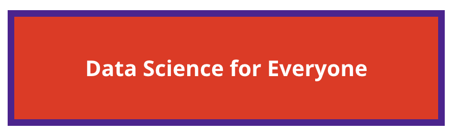 "red background with ""data science for everyone"" overlay"