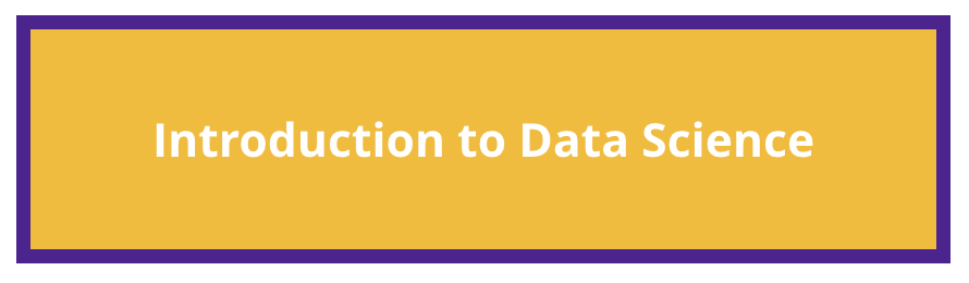 "yellow background with ""introduction to data science"" text overlay"