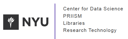 NYU CDS PRIISM Libraries Research Technology logo
