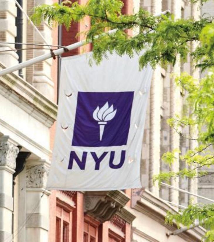 outdoor NYU sign